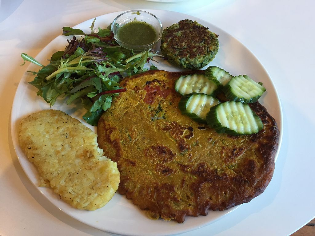 """Photo of CLOSED: Cuppa Tea  by <a href=""""/members/profile/Wuji_Luiji"""">Wuji_Luiji</a> <br/>Vegan omelette (with added hash brown and vegie patty) <br/> September 6, 2017  - <a href='/contact/abuse/image/78574/301369'>Report</a>"""