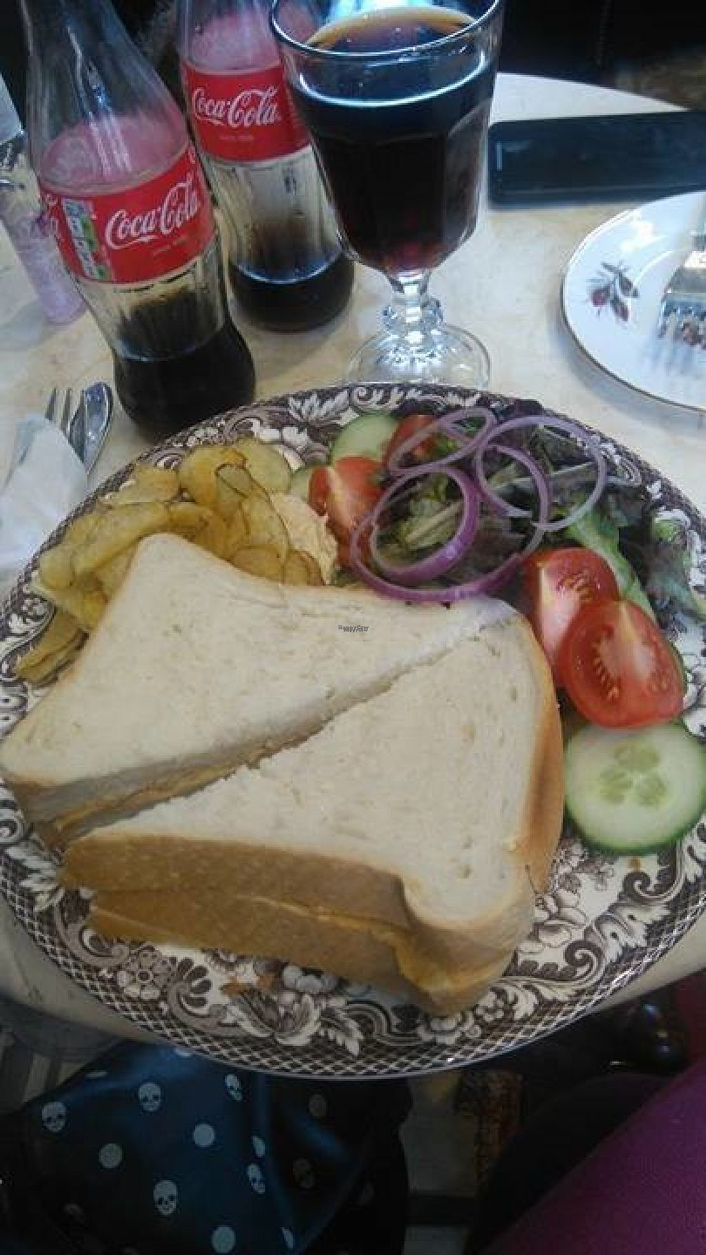 """Photo of Curious Cats  by <a href=""""/members/profile/EmmaChadwick"""">EmmaChadwick</a> <br/>This was a shiitake mushroom pate sandwhich. Labled as vegan, they had a lot a few labled vegan/veggie foods on their menu. They know their audience lol. The cats roam about but the food is served covered like a fancy cake is in a dome. So if you're that fussy, you can cover it if a cat jumps on the table. Hand sanitiser on each table too :). The food was nice & unexpected too, it's nice when you come across a place that caters to vegans <br/> August 15, 2016  - <a href='/contact/abuse/image/78593/168934'>Report</a>"""