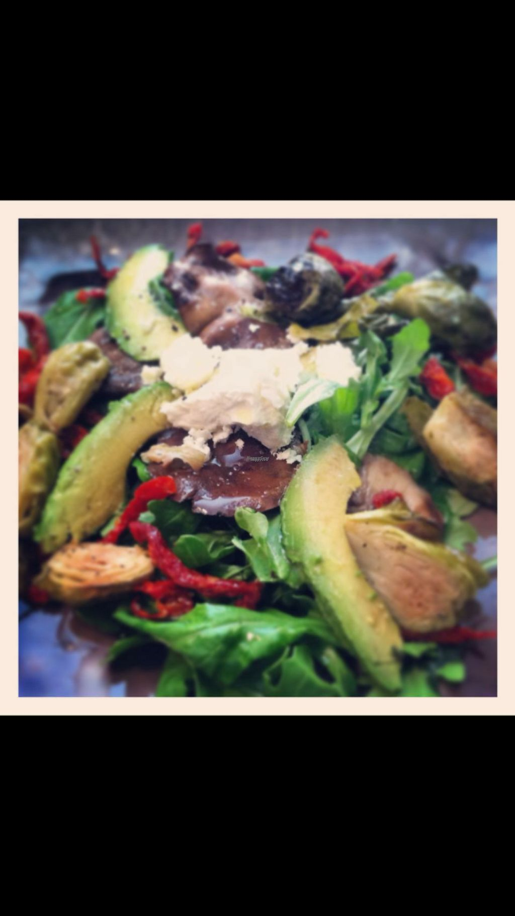 "Photo of Simply Sublime  by <a href=""/members/profile/Juleslogie"">Juleslogie</a> <br/>Salad special with shiitake, roasted Brussels sprouts, avocado, sundries tomato and vegan cheese <br/> December 31, 2016  - <a href='/contact/abuse/image/78594/206566'>Report</a>"