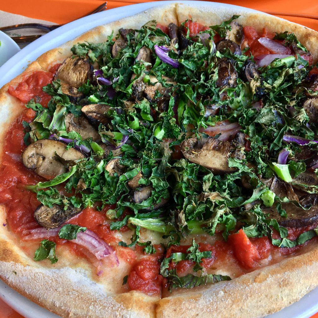 """Photo of Modern Market  by <a href=""""/members/profile/vegansb17"""">vegansb17</a> <br/>Crimini Kale pizza (vegan friendly) <br/> May 8, 2017  - <a href='/contact/abuse/image/78623/257058'>Report</a>"""
