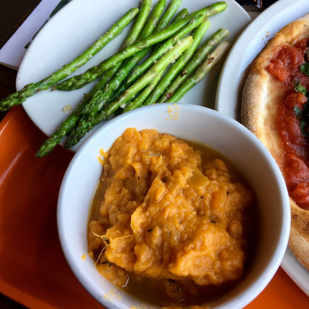 """Photo of Modern Market  by <a href=""""/members/profile/vegansb17"""">vegansb17</a> <br/>Rosemary Sweet Potato Mash and Lemon Garlic Asparagus <br/> May 8, 2017  - <a href='/contact/abuse/image/78623/257059'>Report</a>"""