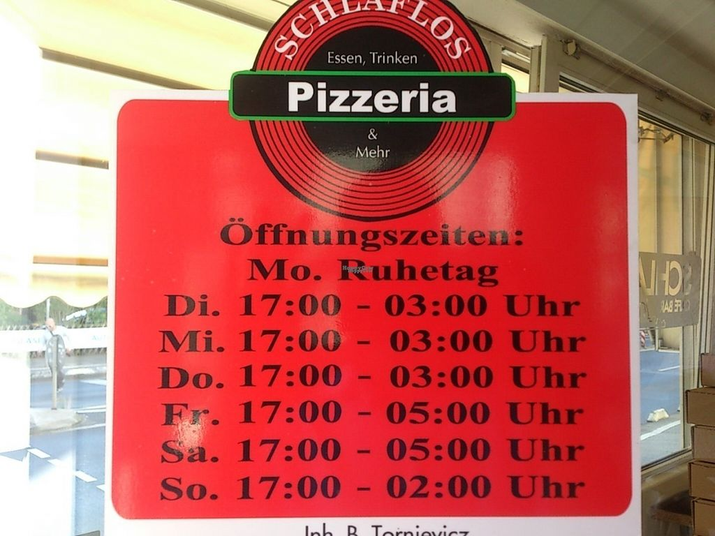 "Photo of Pizzeria Schlaflos  by <a href=""/members/profile/Tank242"">Tank242</a> <br/>From Dusk til Dawn <br/> September 1, 2016  - <a href='/contact/abuse/image/78631/172783'>Report</a>"