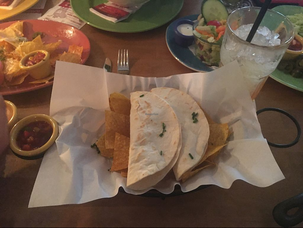 """Photo of Sausalitos  by <a href=""""/members/profile/AndyT"""">AndyT</a> <br/>Veganista soft tacos (vegan) <br/> June 6, 2017  - <a href='/contact/abuse/image/78637/266275'>Report</a>"""