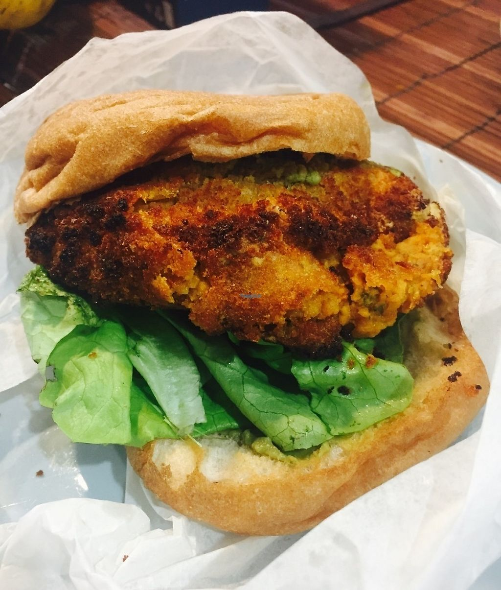 """Photo of Morley's Bar & Bistro  by <a href=""""/members/profile/karlaess"""">karlaess</a> <br/>Hey Man No Meat! Burger <br/> November 27, 2016  - <a href='/contact/abuse/image/78641/195012'>Report</a>"""