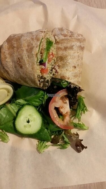 """Photo of Eat Real Cafe  by <a href=""""/members/profile/Kplant"""">Kplant</a> <br/>vegan wrap <br/> September 11, 2016  - <a href='/contact/abuse/image/78654/174979'>Report</a>"""