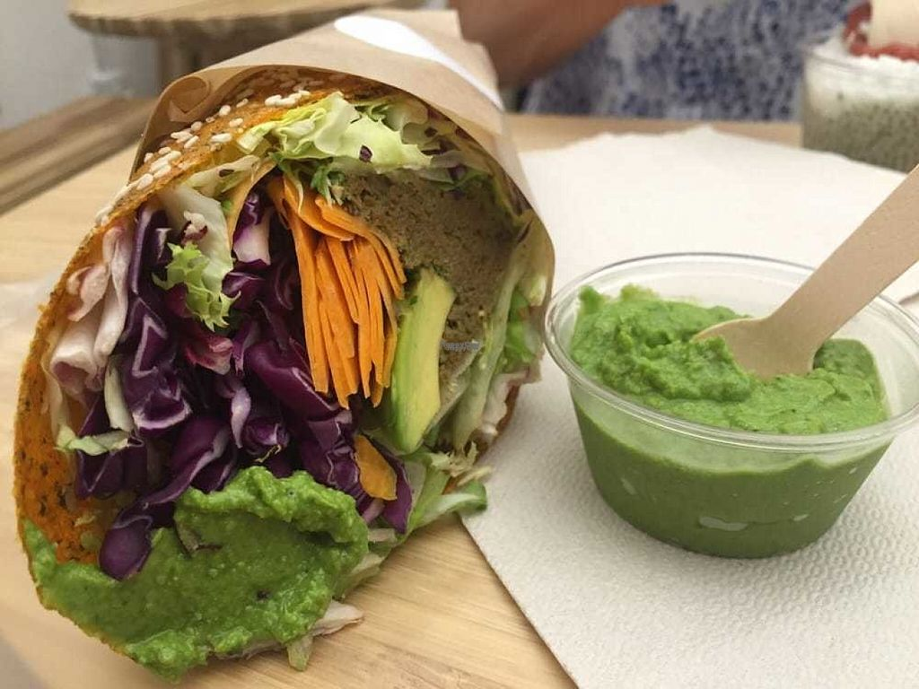 "Photo of #RAW  by <a href=""/members/profile/HashtagRawVegan"">HashtagRawVegan</a> <br/>Raw vegan lunch!! Wrap with everything good + Basil parsley salsa. Dare you not to drool!! <br/> August 14, 2016  - <a href='/contact/abuse/image/78656/168658'>Report</a>"