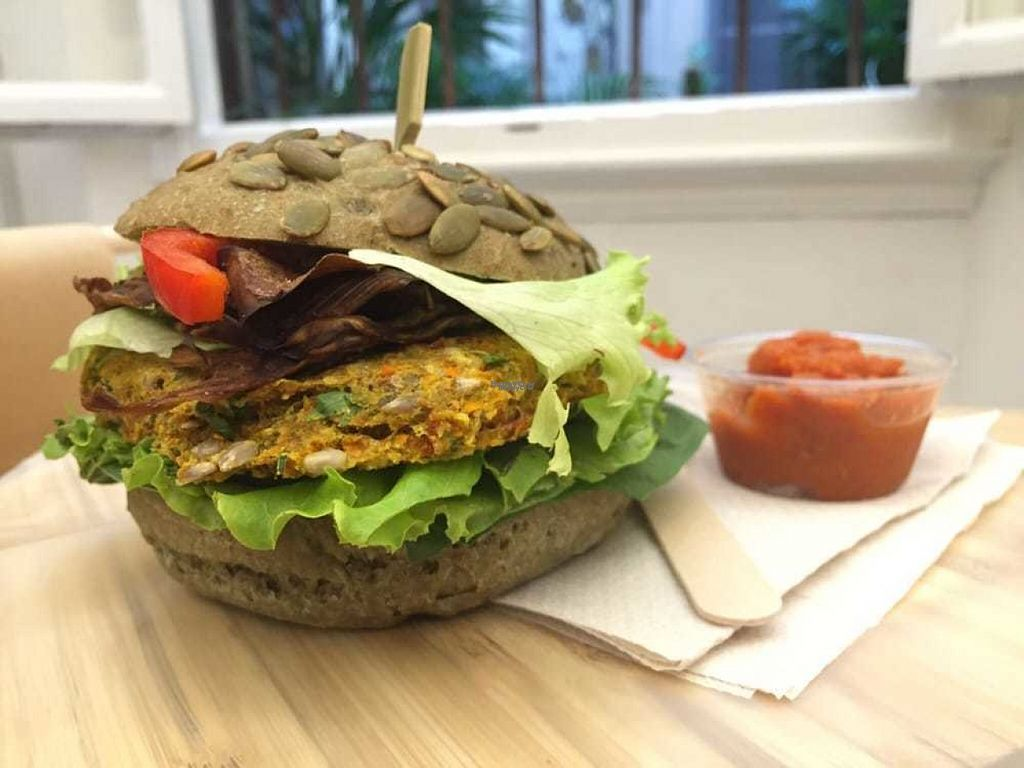 "Photo of #RAW  by <a href=""/members/profile/HashtagRawVegan"">HashtagRawVegan</a> <br/>Raw Vegan Burger on a buckwheat bun. Gluten free, 100% vegan, and 1000% delicious!!! <br/> August 14, 2016  - <a href='/contact/abuse/image/78656/168659'>Report</a>"