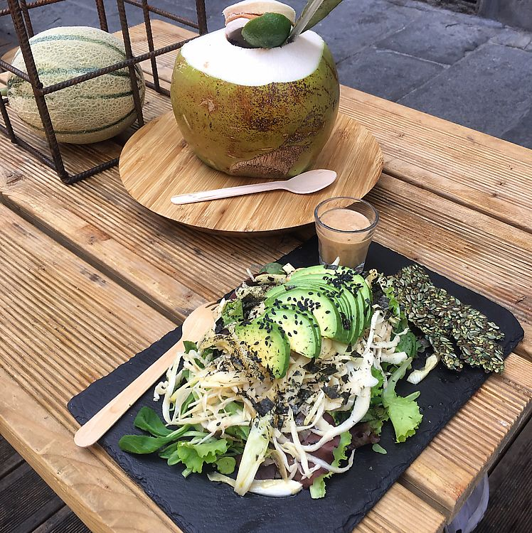 "Photo of #RAW  by <a href=""/members/profile/KishayaDelaney"">KishayaDelaney</a> <br/>coconut water and raw nori salad <br/> June 10, 2017  - <a href='/contact/abuse/image/78656/267662'>Report</a>"
