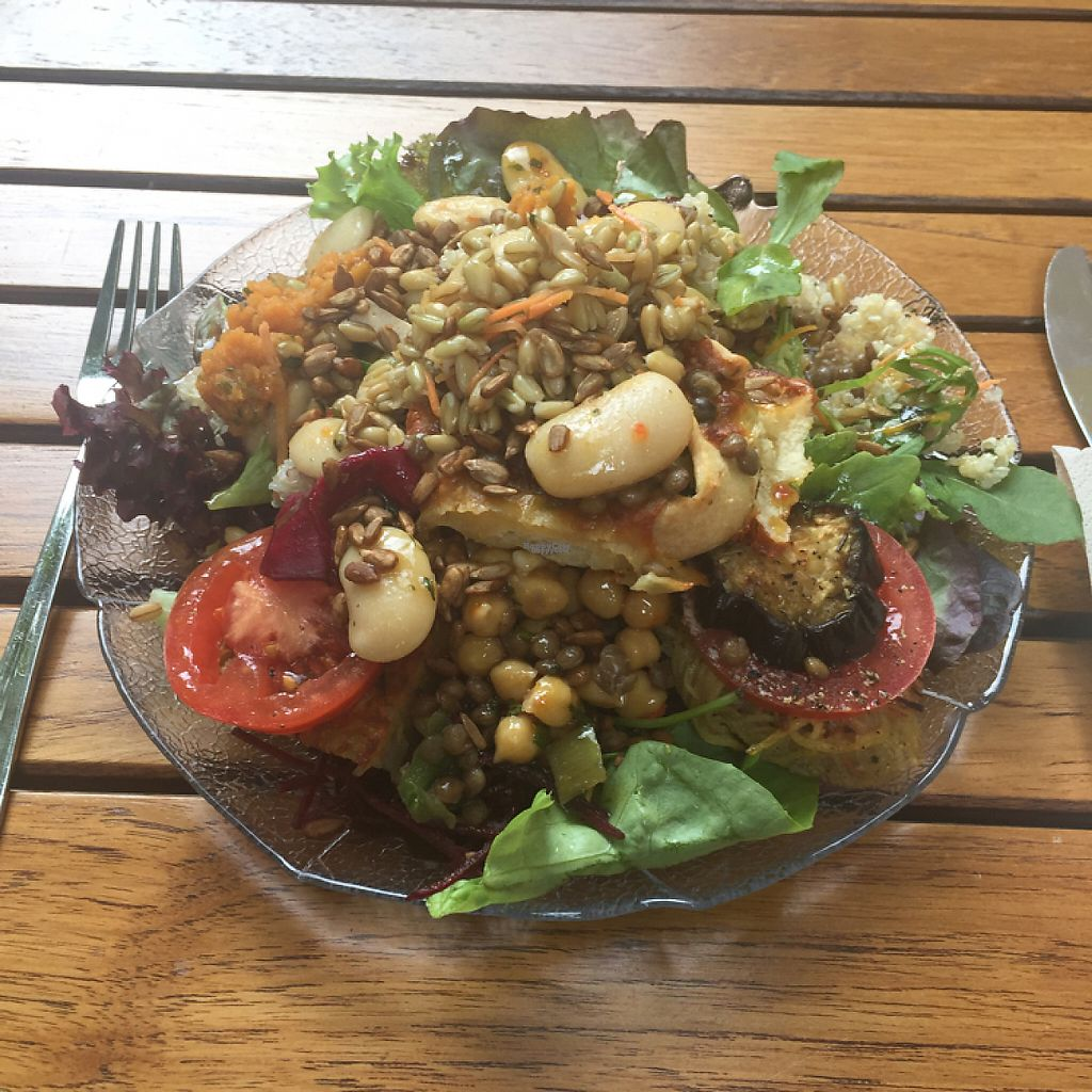 "Photo of Adelhaus  by <a href=""/members/profile/Smeg"">Smeg</a> <br/>Gorgeous vegan salad plate. They also have vegan and veggie burgers and a veggie and vegan special each day. The vegan apple tart was divine!! <br/> April 24, 2017  - <a href='/contact/abuse/image/78709/251887'>Report</a>"