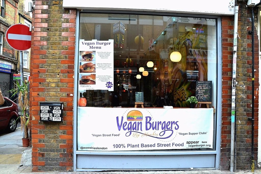"""Photo of Mooshies  by <a href=""""/members/profile/MooshiesLondon"""">MooshiesLondon</a> <br/>Front of the restaurant on 104 Brick Lane <br/> November 11, 2016  - <a href='/contact/abuse/image/78723/188638'>Report</a>"""