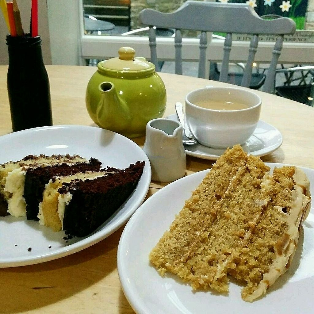 """Photo of LBs Cafe  by <a href=""""/members/profile/jord_aka"""">jord_aka</a> <br/>Tea with vegan cakes: Chocolate Vanilla and Biscoff <br/> January 14, 2018  - <a href='/contact/abuse/image/78728/346612'>Report</a>"""
