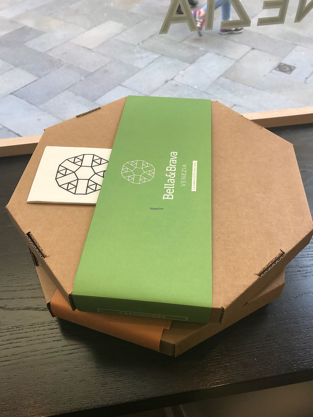 """Photo of Bella&Brava  by <a href=""""/members/profile/AbbiCastle"""">AbbiCastle</a> <br/>the shop, the branding and even the pizza boxes are very modern! it feels almost spacey! <br/> April 16, 2018  - <a href='/contact/abuse/image/78749/386764'>Report</a>"""