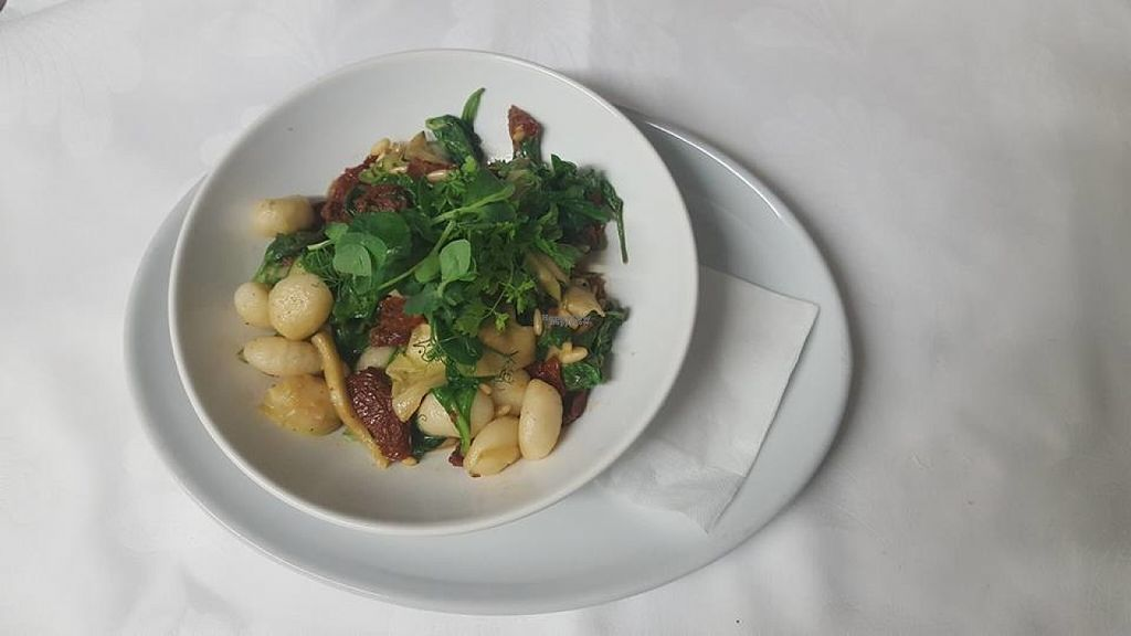 """Photo of The Golden Heart Inn  by <a href=""""/members/profile/Meaks"""">Meaks</a> <br/>Vegan Gnocchi with sundried tomato, wilted spinach, courgette ribbons & pine nuts <br/> August 19, 2016  - <a href='/contact/abuse/image/78763/170051'>Report</a>"""