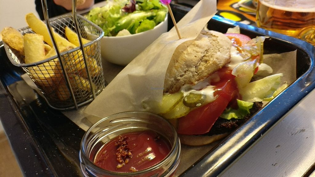 """Photo of Lahodnosti  by <a href=""""/members/profile/EdgarDavey"""">EdgarDavey</a> <br/>absolutely amazing vegan burger!!!  <br/> July 13, 2017  - <a href='/contact/abuse/image/78764/279912'>Report</a>"""