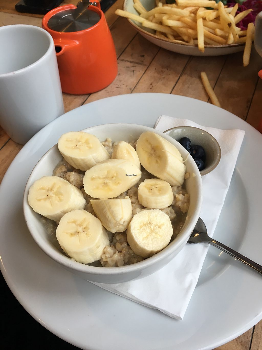 "Photo of Boston Tea Party  by <a href=""/members/profile/RachelJenkins"">RachelJenkins</a> <br/>Soy porridge and bananas  <br/> January 29, 2018  - <a href='/contact/abuse/image/78765/352388'>Report</a>"