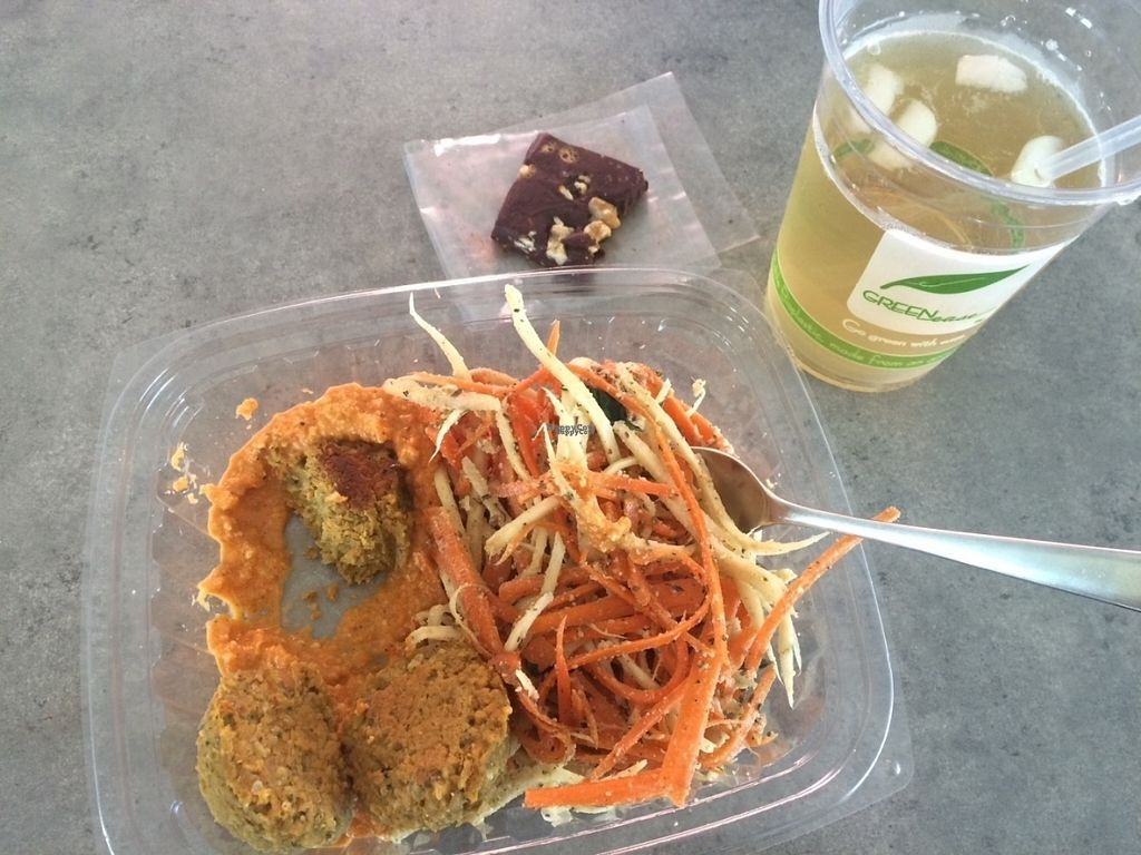 """Photo of Raw Eatery & Market  by <a href=""""/members/profile/Danielle.Riddel"""">Danielle.Riddel</a> <br/>Linguini, fudge and sparkling iced tea  <br/> August 16, 2016  - <a href='/contact/abuse/image/78776/169355'>Report</a>"""