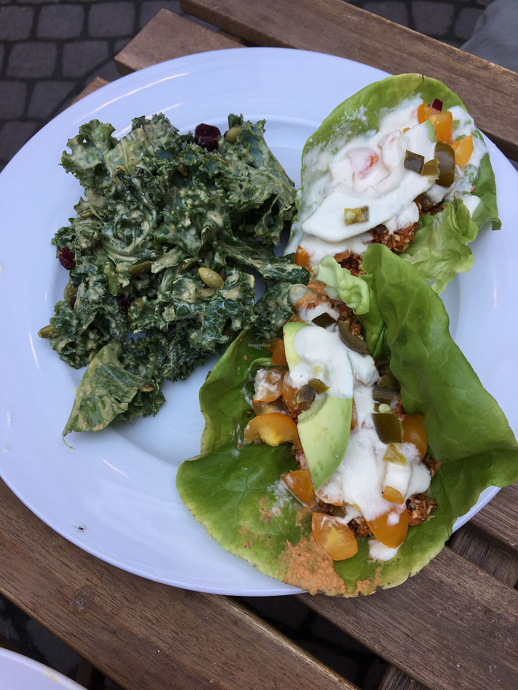 """Photo of Raw Eatery & Market  by <a href=""""/members/profile/dlachica"""">dlachica</a> <br/>mary kale salad and tacos <br/> September 3, 2017  - <a href='/contact/abuse/image/78776/300548'>Report</a>"""