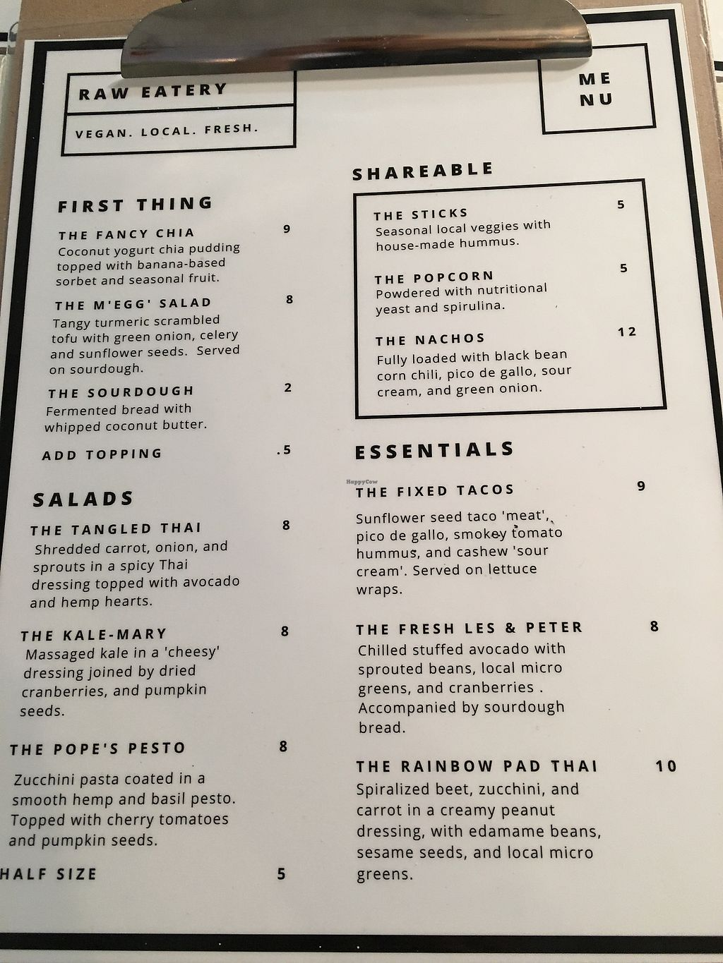 """Photo of Raw Eatery & Market  by <a href=""""/members/profile/dlachica"""">dlachica</a> <br/>menu <br/> September 3, 2017  - <a href='/contact/abuse/image/78776/300549'>Report</a>"""