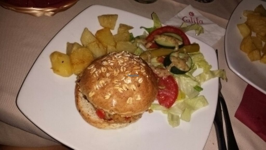"Photo of Califa Tapas  by <a href=""/members/profile/Suu"">Suu</a> <br/>steak of vegetables minus cheese (really good!)  <br/> August 17, 2016  - <a href='/contact/abuse/image/78784/169561'>Report</a>"
