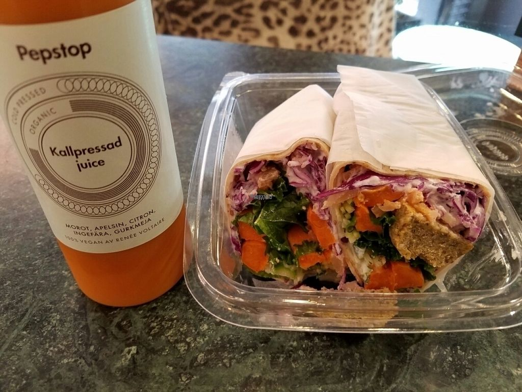 "Photo of Pepstop  by <a href=""/members/profile/EverydayTastiness"">EverydayTastiness</a> <br/>wrap and juice <br/> August 20, 2016  - <a href='/contact/abuse/image/78798/170298'>Report</a>"