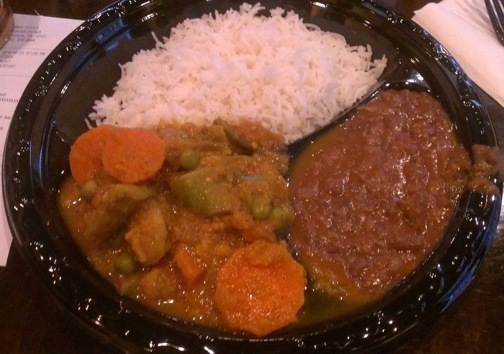 """Photo of Mumbai Bistro  by <a href=""""/members/profile/veggie_htx"""">veggie_htx</a> <br/>Pay-per-pound vegan buffet items <br/> August 17, 2016  - <a href='/contact/abuse/image/78830/223437'>Report</a>"""