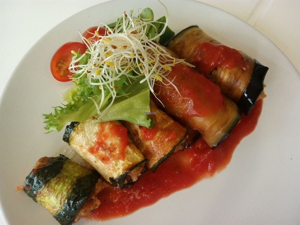 "Photo of CLOSED: Vegi  by <a href=""/members/profile/Caramella76"">Caramella76</a> <br/>Dish of the day. Rollitos de berenjena veganos - Vegan aubergine rolls <br/> September 5, 2016  - <a href='/contact/abuse/image/78834/173728'>Report</a>"