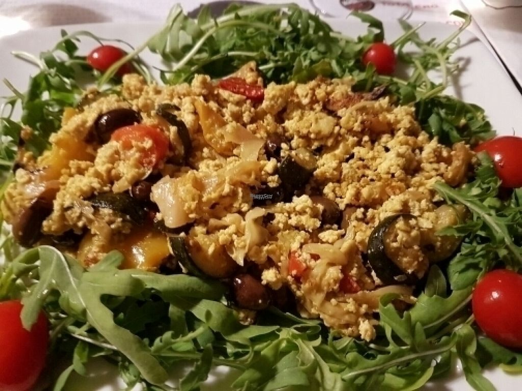 """Photo of Caffe Vergnano 1882 - Rialto  by <a href=""""/members/profile/Good%20for%20Vegans"""">Good for Vegans</a> <br/>Scrambled tofu with vegetables <br/> August 18, 2016  - <a href='/contact/abuse/image/78836/169817'>Report</a>"""