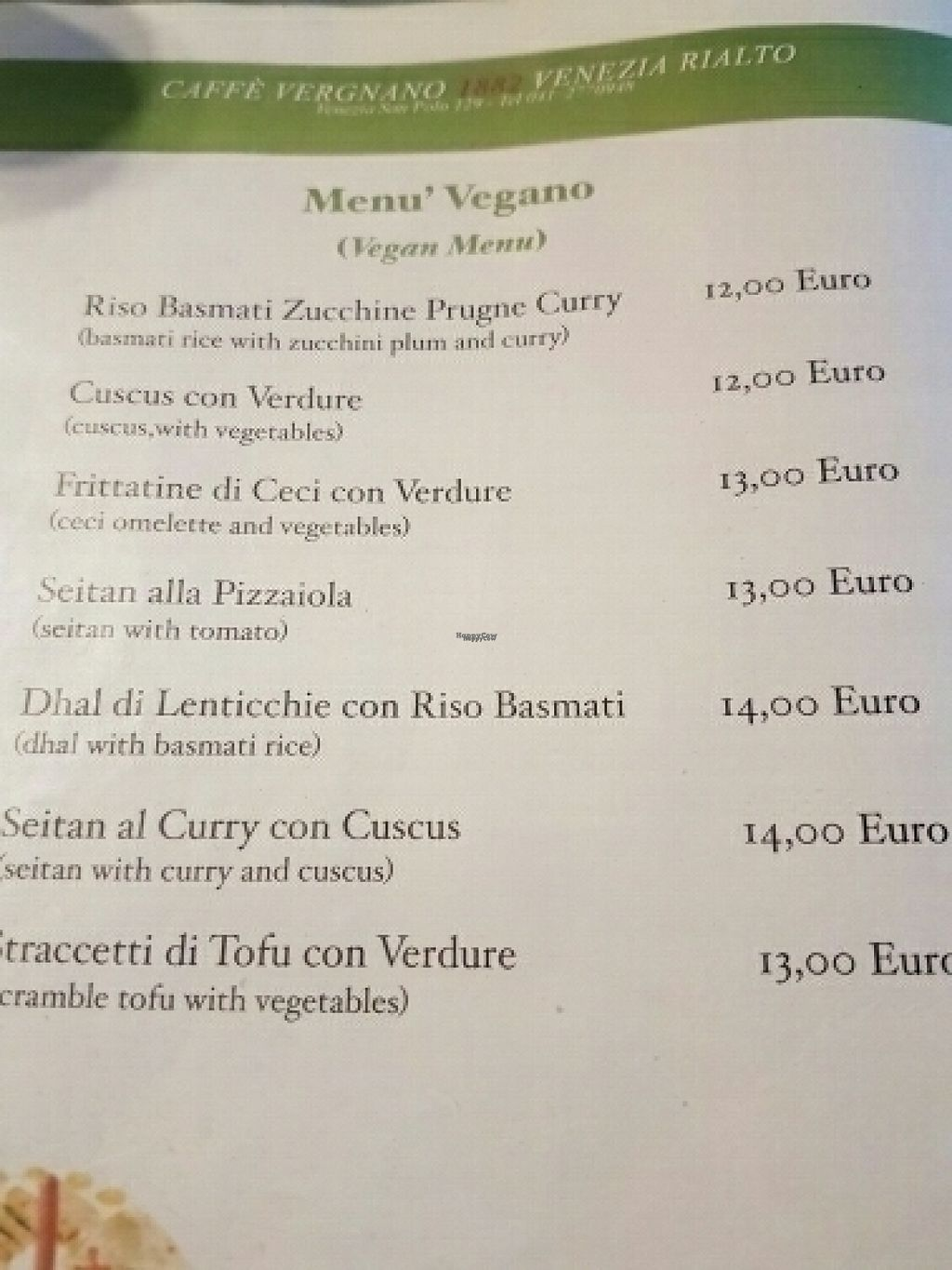 """Photo of Caffe Vergnano 1882 - Rialto  by <a href=""""/members/profile/Good%20for%20Vegans"""">Good for Vegans</a> <br/>Vegan menu <br/> August 18, 2016  - <a href='/contact/abuse/image/78836/169819'>Report</a>"""