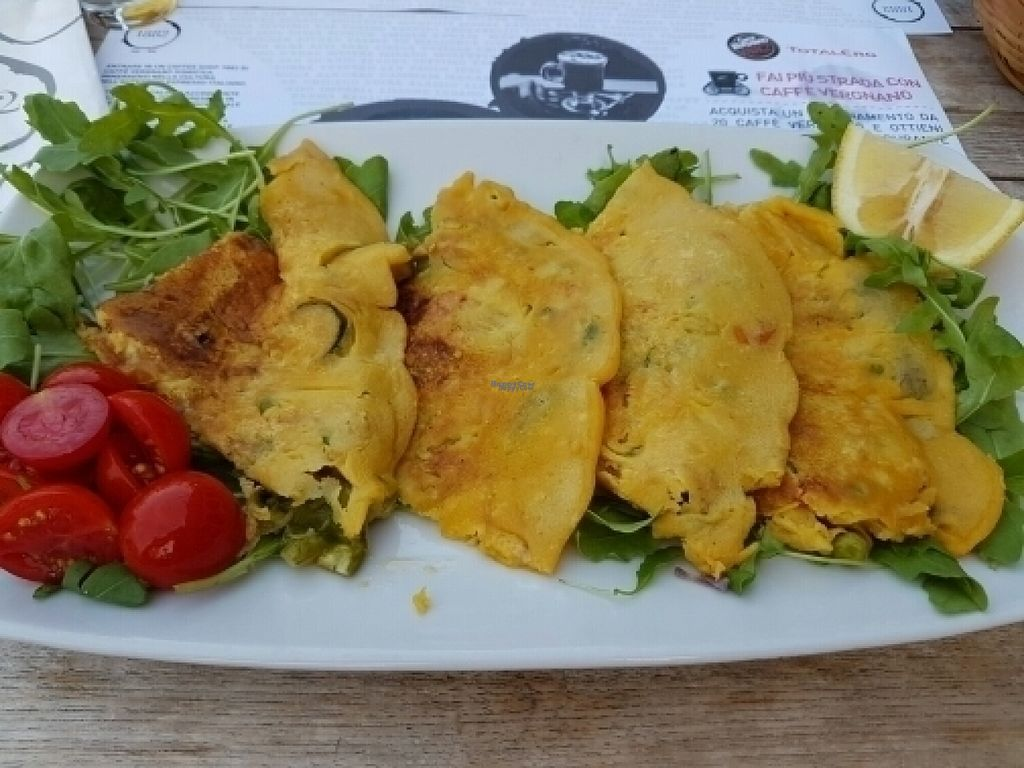 """Photo of Caffe Vergnano 1882 - Rialto  by <a href=""""/members/profile/Good%20for%20Vegans"""">Good for Vegans</a> <br/>Chickpea frittata with vegetables  <br/> August 18, 2016  - <a href='/contact/abuse/image/78836/169820'>Report</a>"""