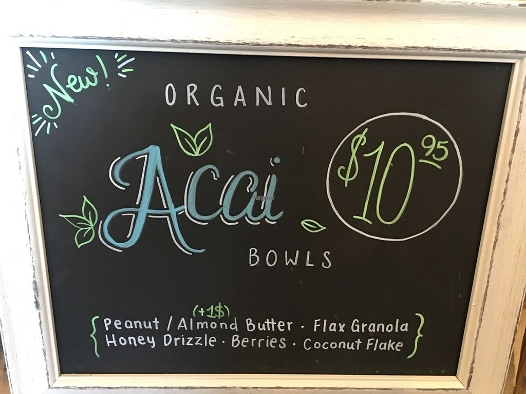 """Photo of Celis Produce  by <a href=""""/members/profile/kmilitello"""">kmilitello</a> <br/>Acai bowl options <br/> August 18, 2016  - <a href='/contact/abuse/image/78883/169852'>Report</a>"""