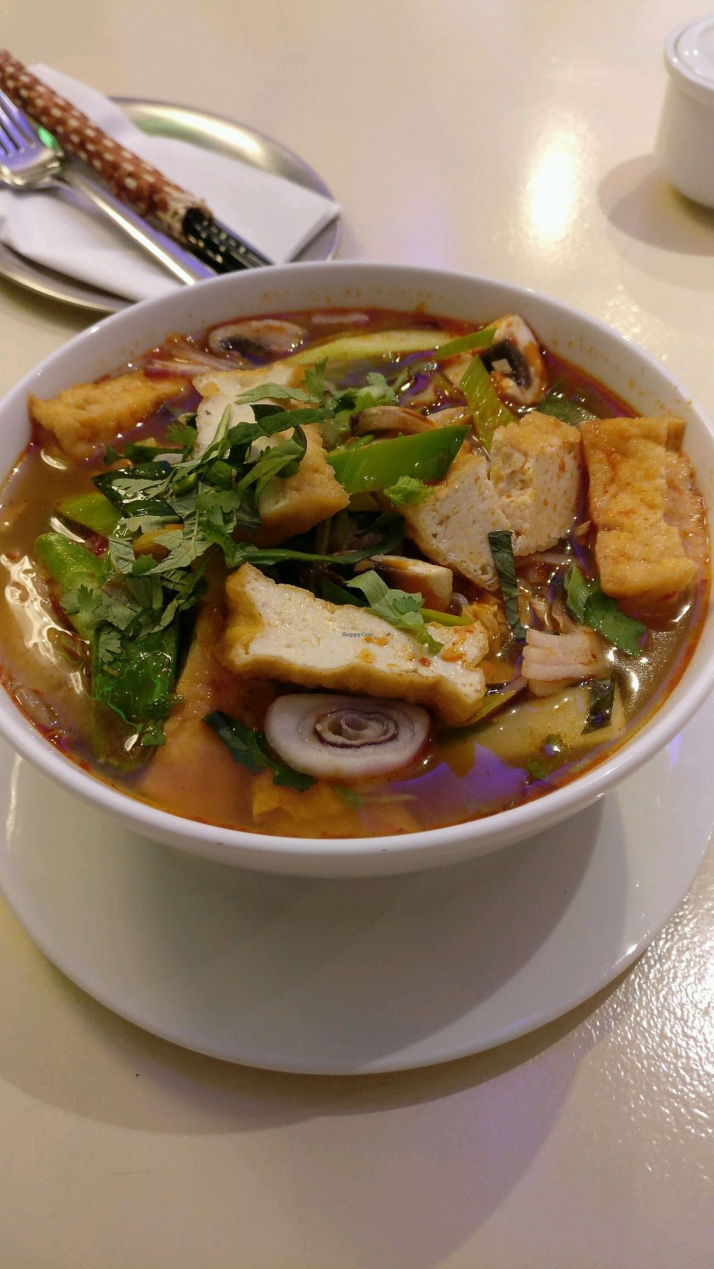 "Photo of AnSa  by <a href=""/members/profile/Pachamamma"">Pachamamma</a> <br/>what you can see is all the veg, 90% solid noodle not Tom yam soup in my book.  <br/> February 9, 2018  - <a href='/contact/abuse/image/78884/356878'>Report</a>"