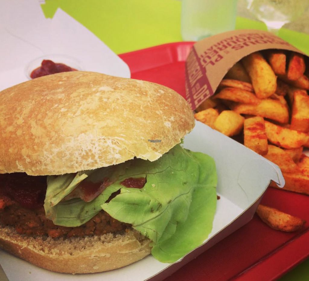 """Photo of L'Appétit Bio  by <a href=""""/members/profile/FrancoisDesbois"""">FrancoisDesbois</a> <br/>Vegan burger and french chips <br/> August 24, 2016  - <a href='/contact/abuse/image/78897/171180'>Report</a>"""