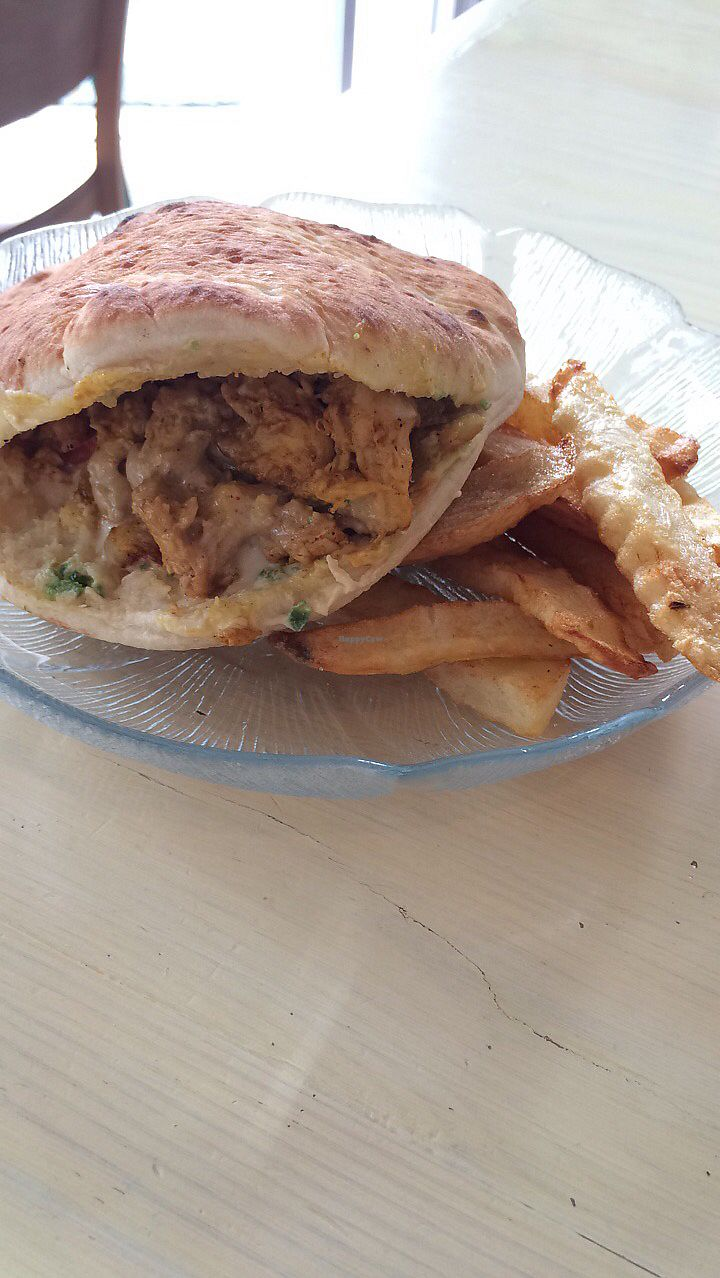"""Photo of Tal's Hummus  by <a href=""""/members/profile/emilopia"""">emilopia</a> <br/>vegan """"chicken"""" shawarma! <br/> August 29, 2017  - <a href='/contact/abuse/image/78901/298695'>Report</a>"""