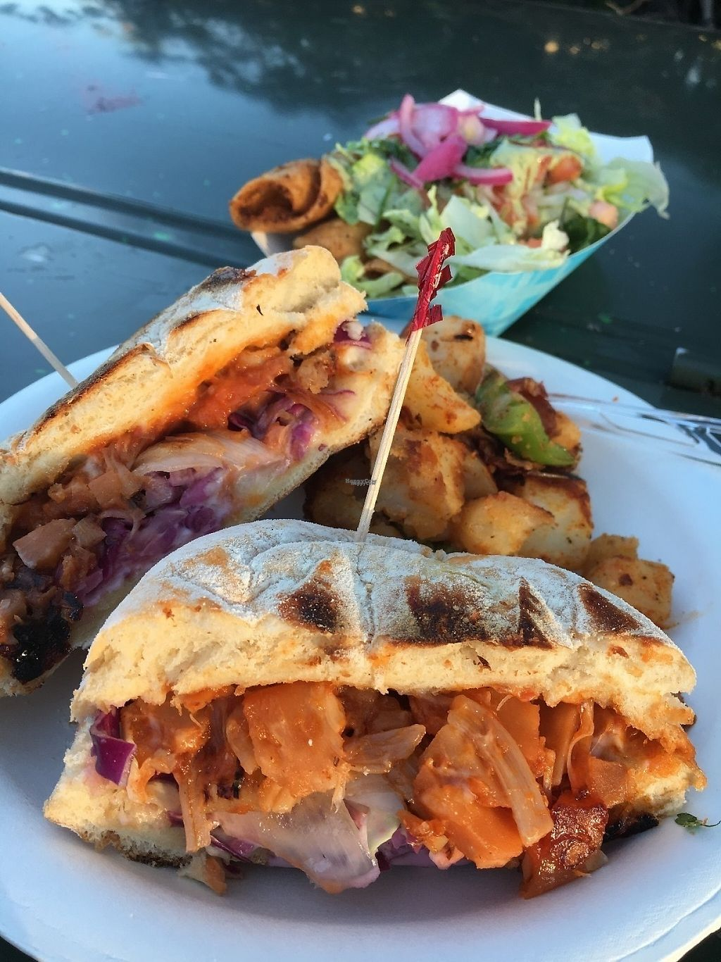 "Photo of El Veganito - Food Stall  by <a href=""/members/profile/oceansidevegan"">oceansidevegan</a> <br/>Sandwich de Jack and Potato Tacos! <br/> March 10, 2017  - <a href='/contact/abuse/image/78906/234914'>Report</a>"