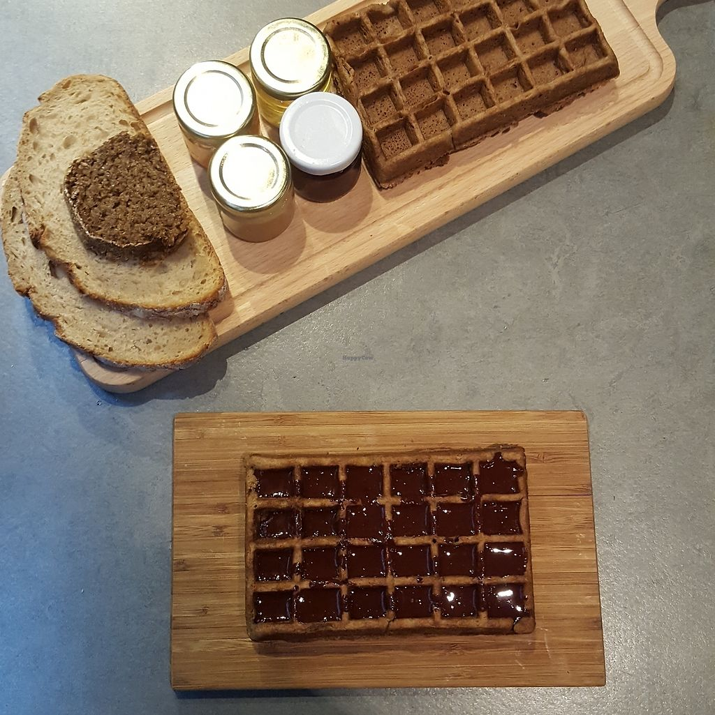 """Photo of The Sister  by <a href=""""/members/profile/VeganAnnaS"""">VeganAnnaS</a> <br/>Breakfast waffles <br/> February 17, 2018  - <a href='/contact/abuse/image/78916/360483'>Report</a>"""