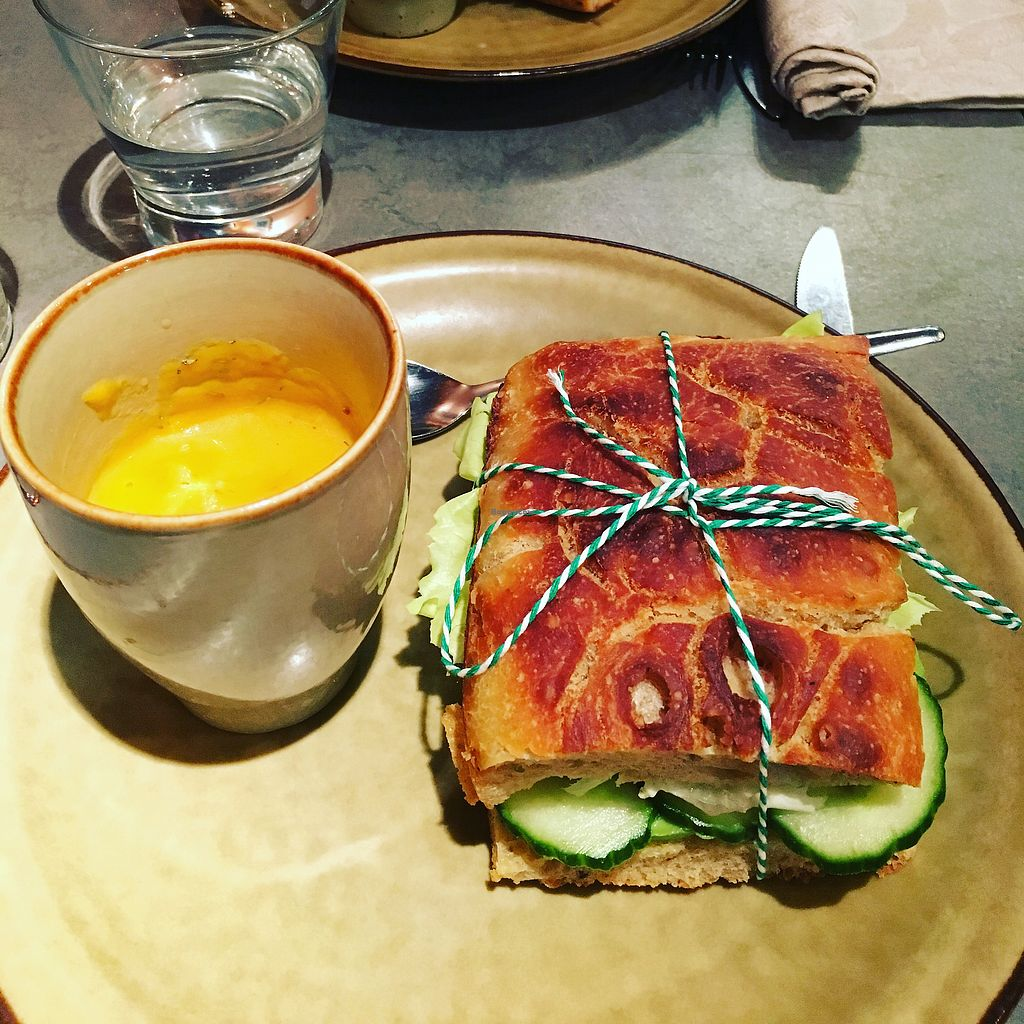 """Photo of The Sister  by <a href=""""/members/profile/Travelvegan72"""">Travelvegan72</a> <br/>Vegan soup and sandwiche <br/> February 17, 2018  - <a href='/contact/abuse/image/78916/360534'>Report</a>"""