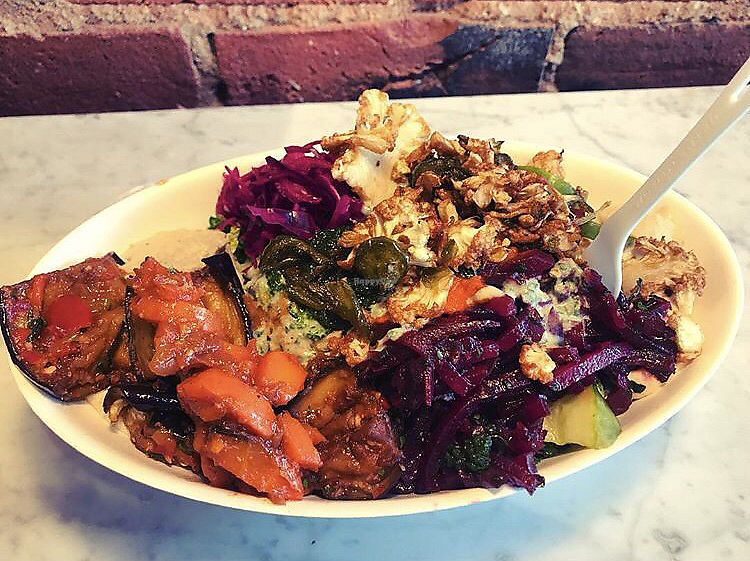 """Photo of Brassica  by <a href=""""/members/profile/Tabgreenvegan"""">Tabgreenvegan</a> <br/>Falafel Salad <br/> March 28, 2018  - <a href='/contact/abuse/image/78946/377439'>Report</a>"""