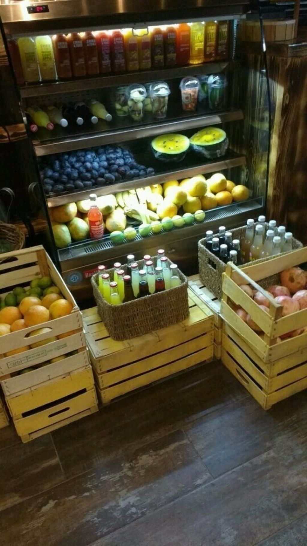 "Photo of We Farm  by <a href=""/members/profile/strickvl"">strickvl</a> <br/>The vegetable & fruit fridge from which they make smoothies <br/> August 21, 2016  - <a href='/contact/abuse/image/78954/170395'>Report</a>"