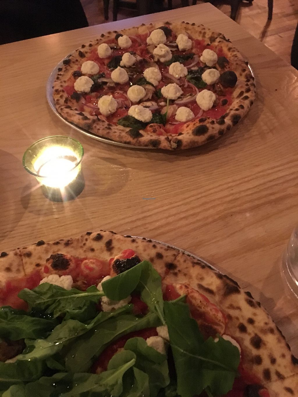 "Photo of Paulie Gee's  by <a href=""/members/profile/Jmom"">Jmom</a> <br/>2 amazing vegan pizzas! Great drink selection! <br/> February 1, 2018  - <a href='/contact/abuse/image/78959/353352'>Report</a>"
