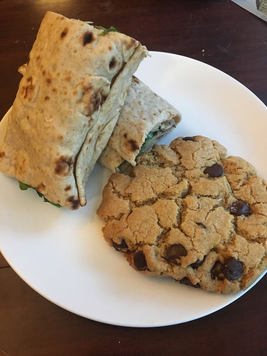 """Photo of Agora Downtown Coffee Shop  by <a href=""""/members/profile/mem2024"""">mem2024</a> <br/>Vegan Wrap and Cookie <br/> January 28, 2018  - <a href='/contact/abuse/image/78960/352118'>Report</a>"""