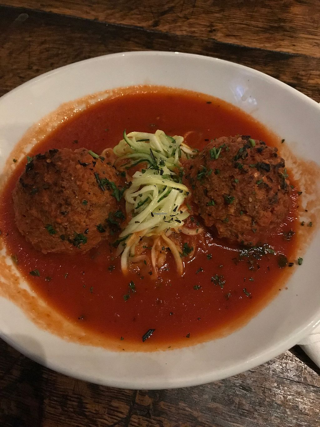 """Photo of 56 Kitchen  by <a href=""""/members/profile/MikeyK"""">MikeyK</a> <br/>Vegan Spaghetti and Meatballs  <br/> October 23, 2017  - <a href='/contact/abuse/image/78966/317916'>Report</a>"""