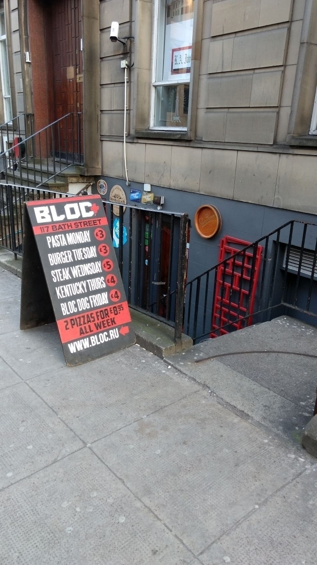 """Photo of Bloc Bar Glasgow  by <a href=""""/members/profile/craigmc"""">craigmc</a> <br/>outside <br/> March 27, 2017  - <a href='/contact/abuse/image/78988/241780'>Report</a>"""