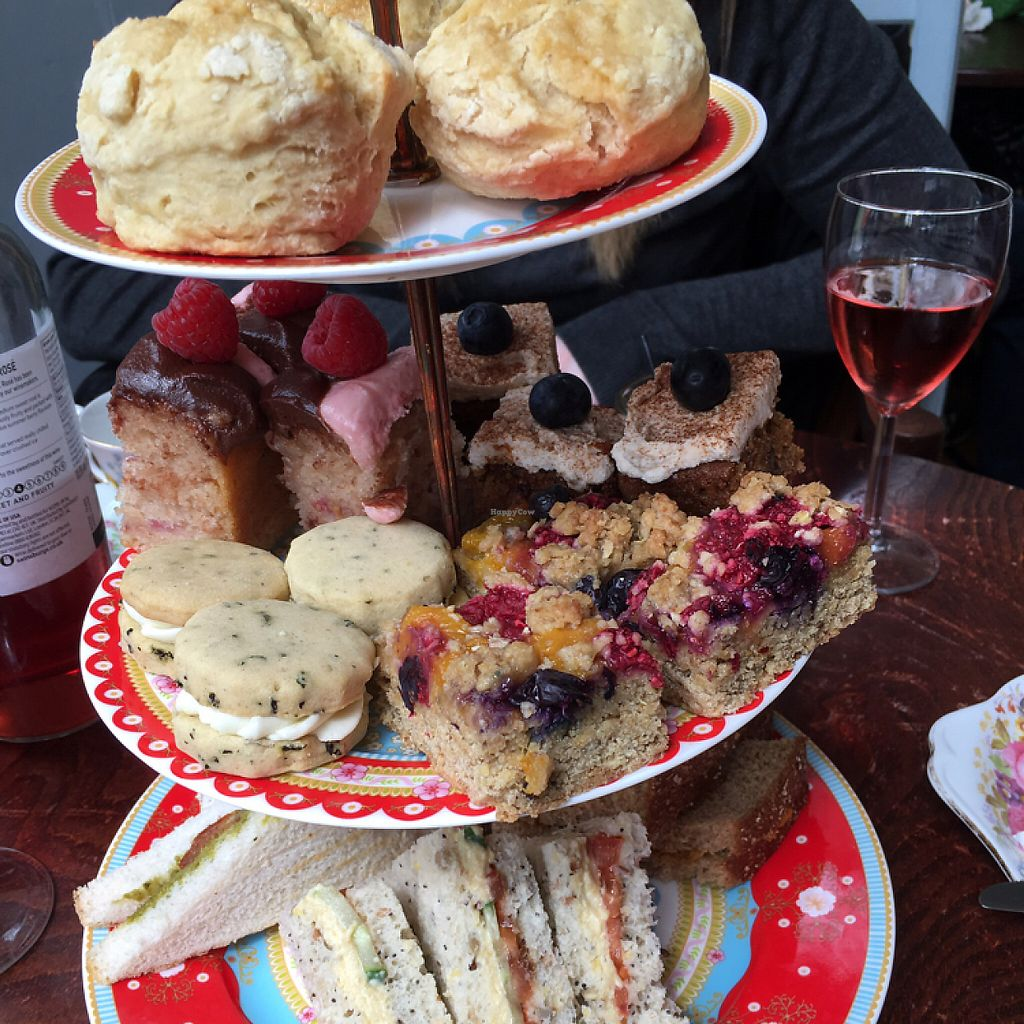 "Photo of Hidden Lane Tea Room  by <a href=""/members/profile/LesleyS"">LesleyS</a> <br/>vegan afternoon tea <br/> May 20, 2017  - <a href='/contact/abuse/image/78990/260696'>Report</a>"