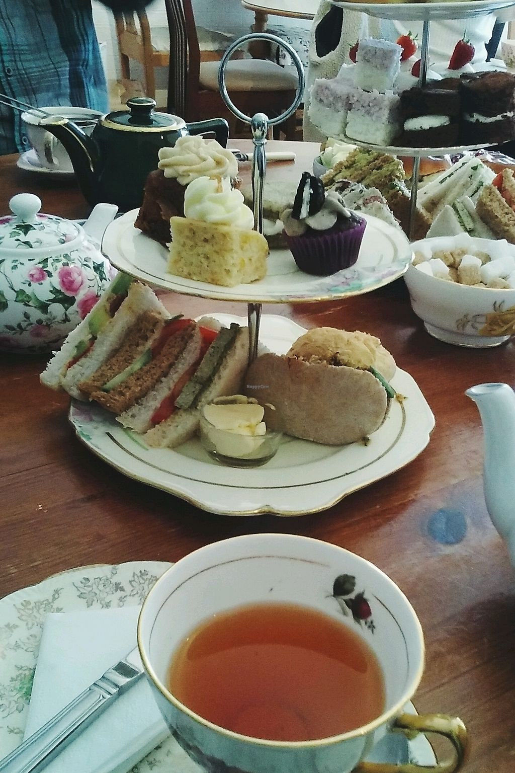 "Photo of Hidden Lane Tea Room  by <a href=""/members/profile/unmond"">unmond</a> <br/>Vegan Afternoon Tea <br/> October 23, 2017  - <a href='/contact/abuse/image/78990/318155'>Report</a>"