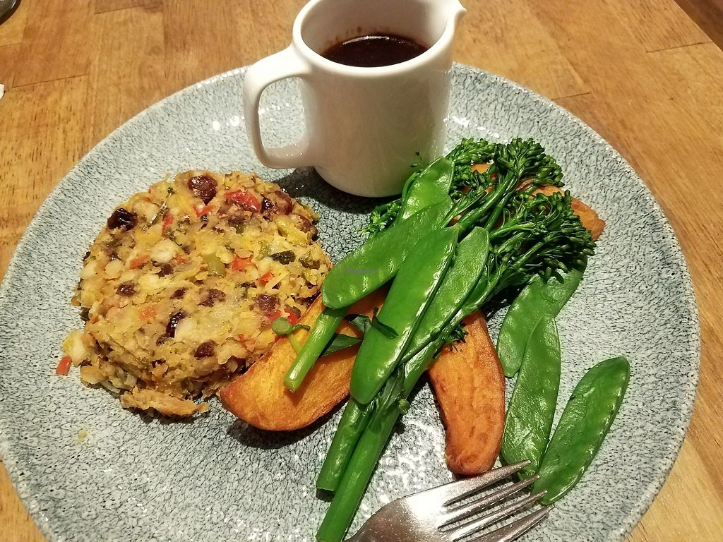 "Photo of Acton & Sons  by <a href=""/members/profile/Ryan%20MTB"">Ryan MTB</a> <br/>lentil loaf with gravy, yams and green veggies  <br/> August 5, 2017  - <a href='/contact/abuse/image/79024/289317'>Report</a>"