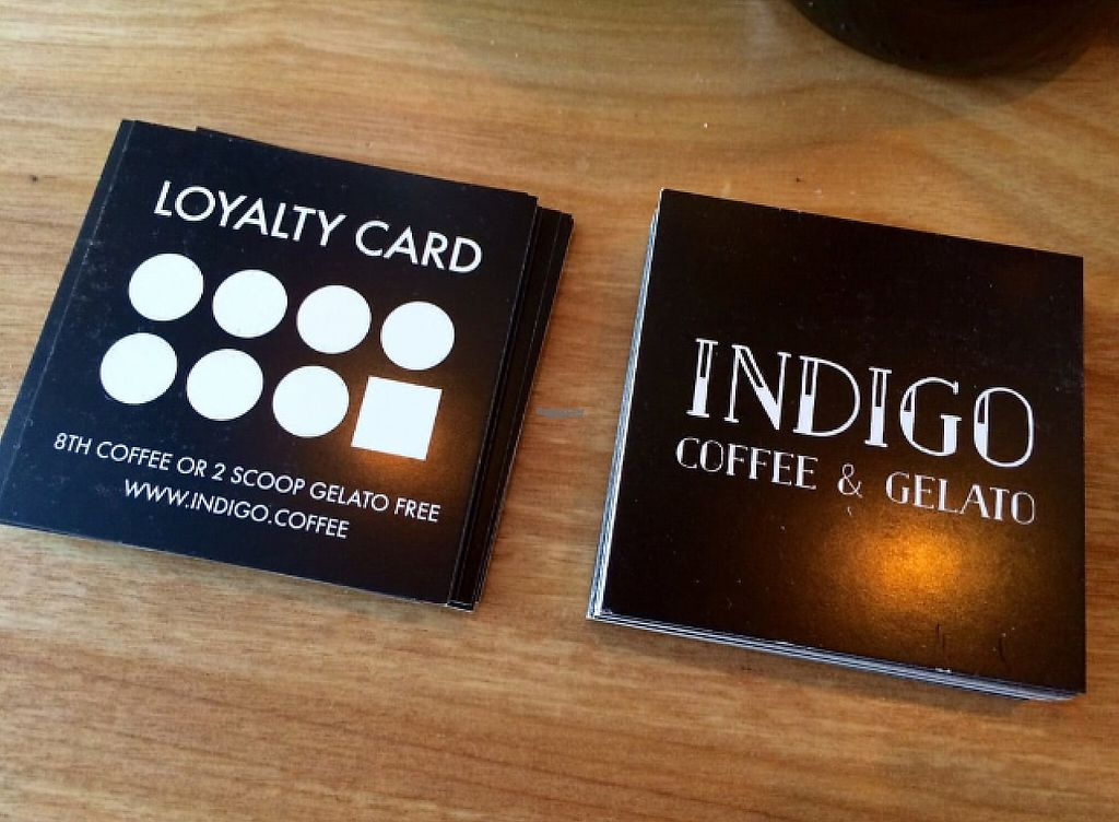 "Photo of Indigo Coffee & Gelato   by <a href=""/members/profile/CiaraSlevin"">CiaraSlevin</a> <br/>loyalty card <br/> August 21, 2016  - <a href='/contact/abuse/image/79025/240254'>Report</a>"