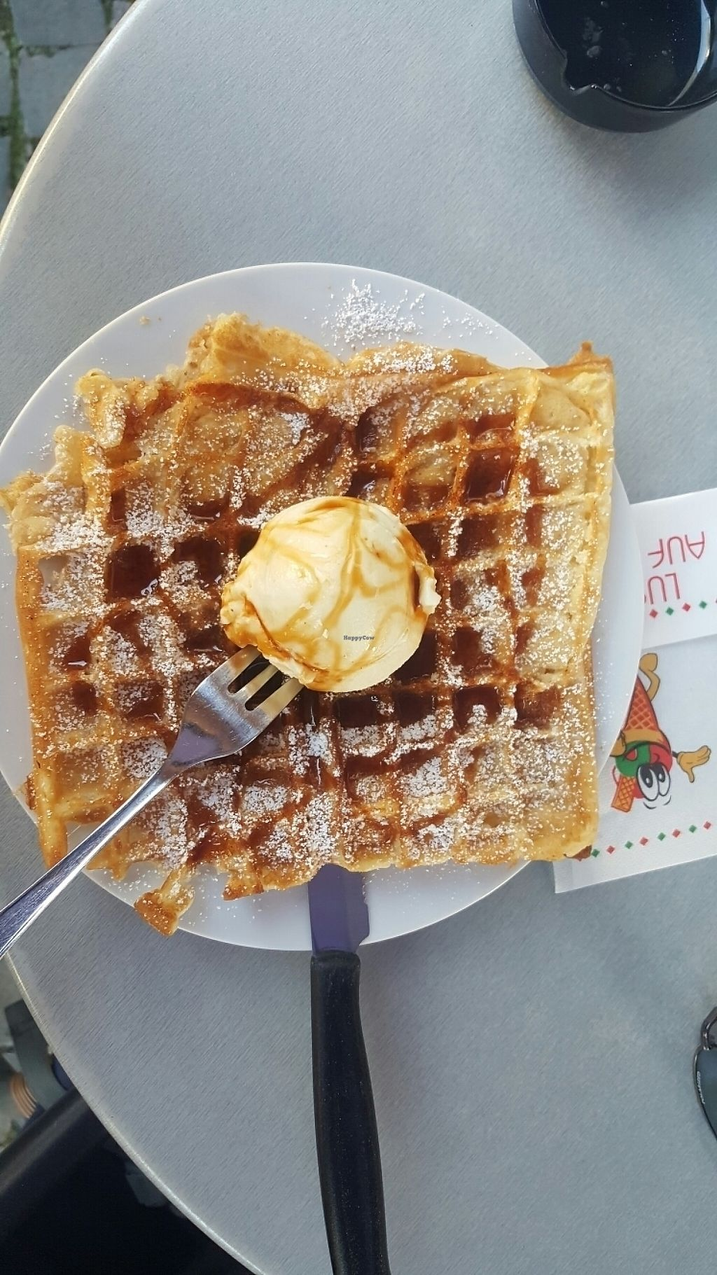 """Photo of Brustolon Cafe Gelateria  by <a href=""""/members/profile/Derina"""">Derina</a> <br/>Waffle with ice cream and caramel sauce <br/> May 16, 2017  - <a href='/contact/abuse/image/79029/259337'>Report</a>"""