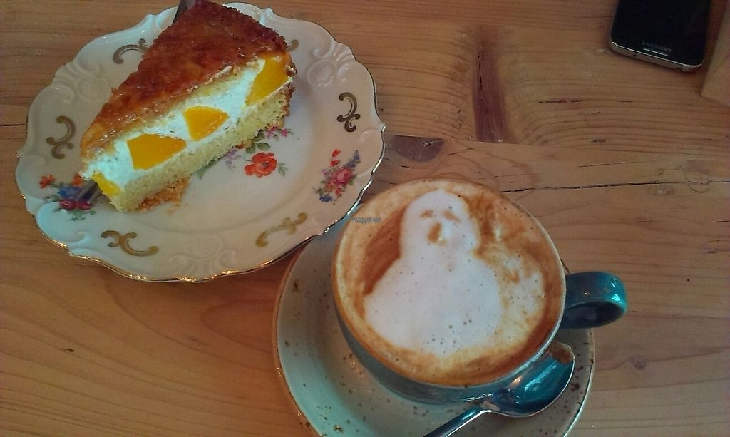 "Photo of Schwätzer & Söhne  by <a href=""/members/profile/Lalwine"">Lalwine</a> <br/>Artsy cappuccino ? and yummy cake <br/> March 29, 2017  - <a href='/contact/abuse/image/79042/242331'>Report</a>"