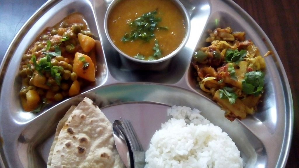 """Photo of Govinda's Restaurant  by <a href=""""/members/profile/daleyz"""">daleyz</a> <br/>veg thali - 120 baht <br/> January 14, 2018  - <a href='/contact/abuse/image/79108/346373'>Report</a>"""