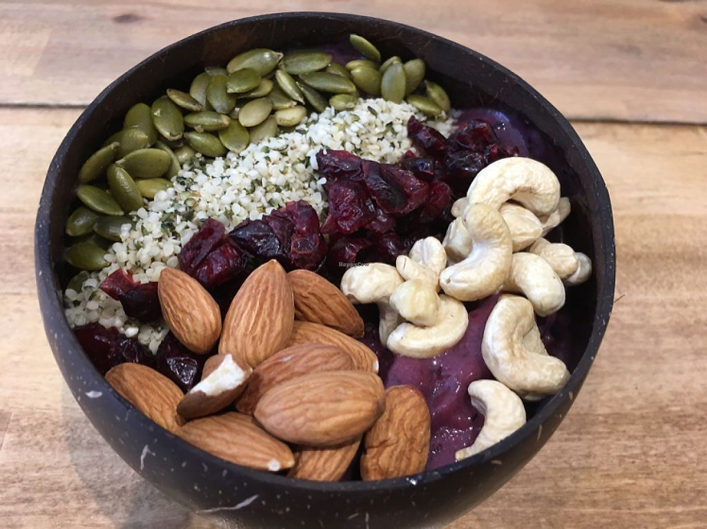 "Photo of Belem Cafe & Yoga  by <a href=""/members/profile/Mishallison"">Mishallison</a> <br/>What a great acai bowl -- lots of purple goodness under this tableau. ❤️ <br/> May 2, 2017  - <a href='/contact/abuse/image/79123/255004'>Report</a>"